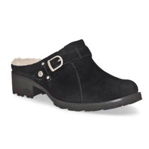 UGG Australia Lila suede slip on heeled clogs 9